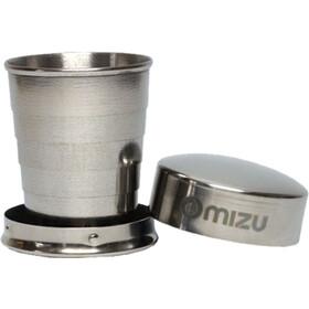 MIZU Shot Glass, stainless with black print
